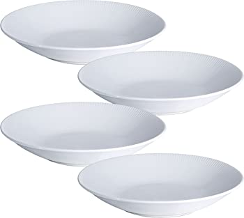4 Pack Y YHY 30 Ounces Porcelain Pasta Salad Bowls