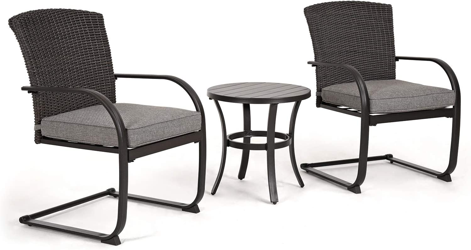 Grand Patio 3 PCS Outdoor Wicker Set Free shipping anywhere in the nation Furniture Bistro favorite