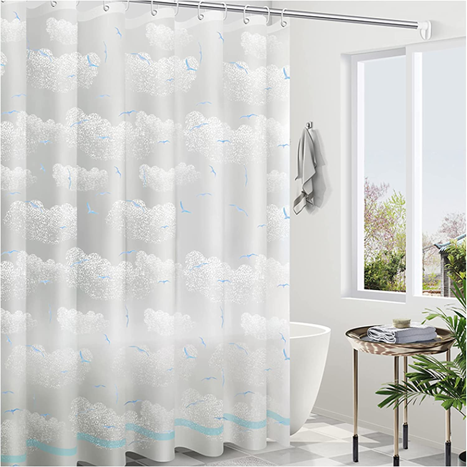 Bathroom Daily bargain sale Max 58% OFF Curtain Quick-Drying Weighted Durable Shower