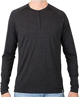 MERIWOOL Men's Base Layer Long Sleeve Henley - Lightweight Merino Wool Thermal