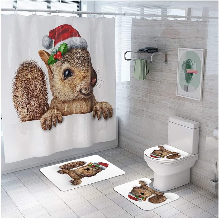 ZLSP free Creative Cheap Colorful Printing Toilet Pad Cover Mat Shower Bath