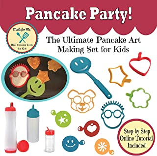 Pancake Art for Kids - Pancake Party! The Ultimate Pancake Art Making Set for Children w/Kid-Friendly Recipes & Step-by-St...