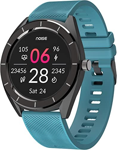 Noise NoiseFit Endure Smart Watch with 100 Cloud Based Watch Faces 20 Day Battery Life Teal Green
