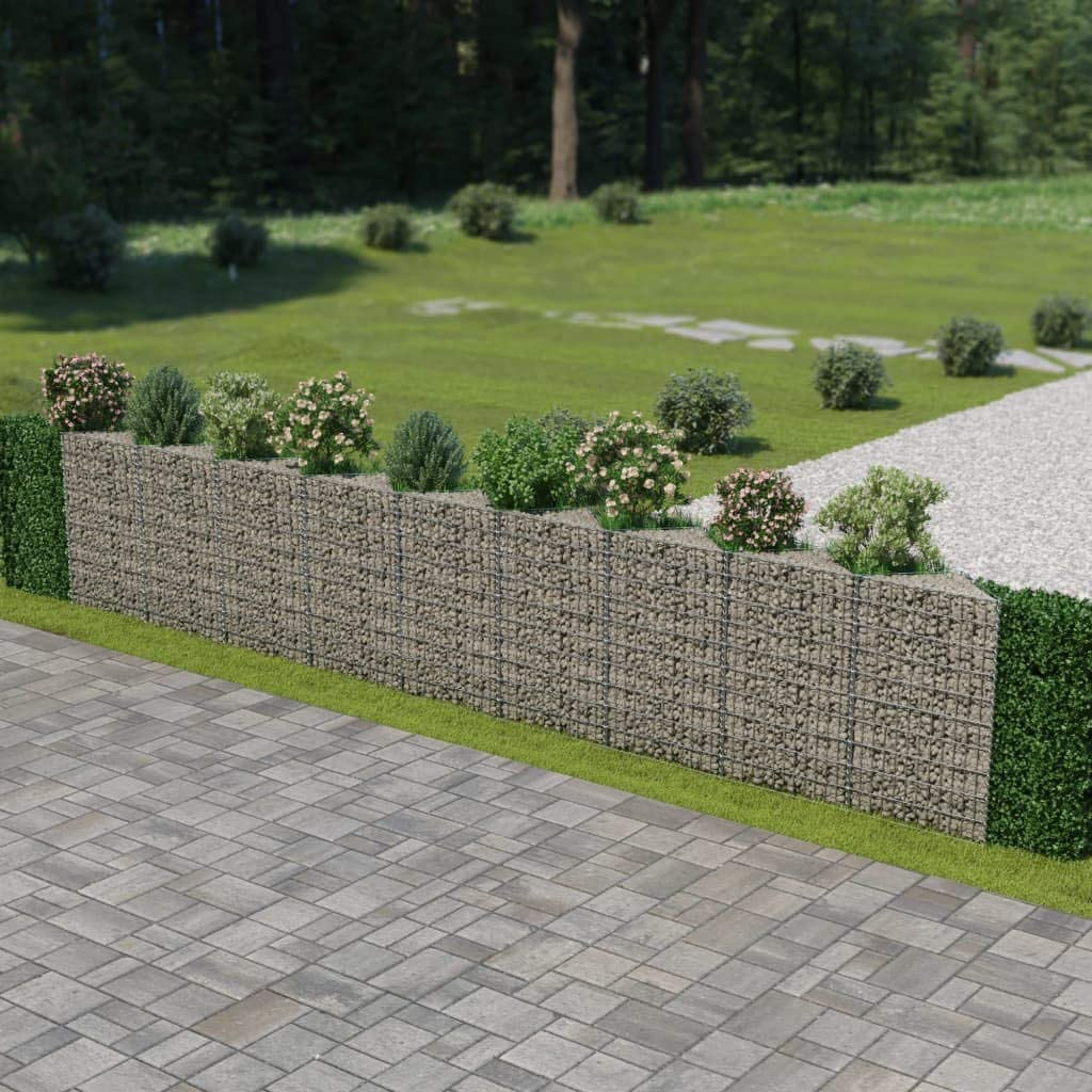 vidaXL Gabion Wall High Load Re Stone Max 64% Financial sales sale OFF Weather-Resistant Capacity