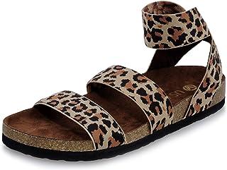 Women's Summer Elastic Strap Sandals Cork Flat Shoes