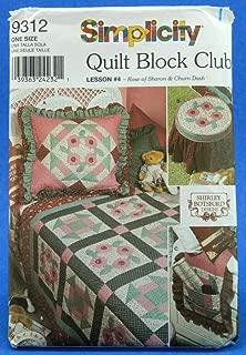 Simplicity Pattern 9312 Quilt Block Club Lesson #4 - Rose of Sharon & Churn Dash