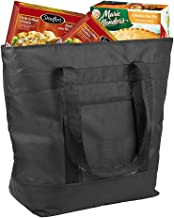 Insulated Grocery Bag By Lebogner - X-Large 10 Gallon Capacity Vacation Cooler Bag For Hot Or Cold Food While Traveling, C...