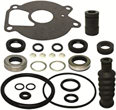 GLM Lower Unit Gearcase Seal Kit for Mercury 9.9 15 18 20 25 Hp Also Fits 1996-1998 25 hp Force Replaces 26-85090A2 18-2624 Read Product Description for Exact Applications