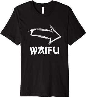 I'm With Waifu Funny Anime Kawaii Couple Novelty Gift Premium T-Shirt