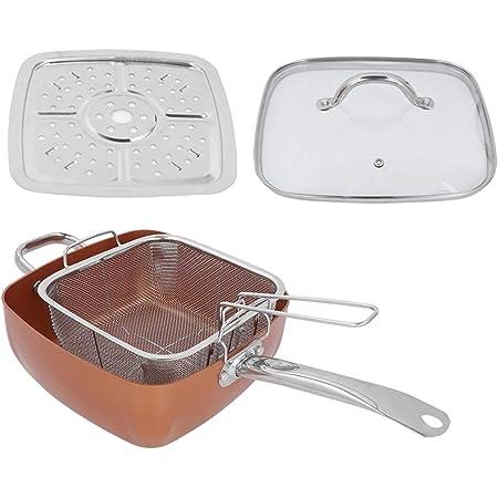 四角い鍋、ステンレス製の鍋、スープフライパンを作るための4個/セットユニバーサル