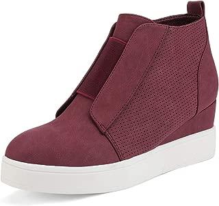 Women's Platform Wedge Sneakers Ankle Booties