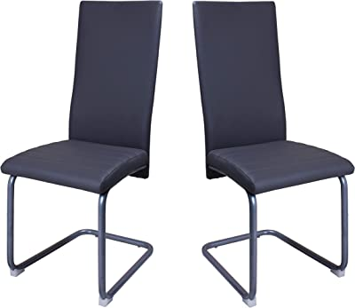 Office Executive Visitor Chair in Black Set of 2 Units