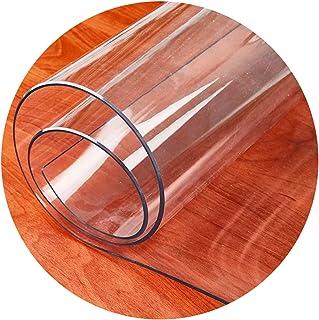 ALGWXQ Alfombrilla Transparente para Silla para Suelos Duros Durable Redondo Oficina Cojín para Silla A Prueba De Polvo Cuarto Entrada Felpudo Protector Suelo Silla, 3 Espesores, 7 Especificaciones