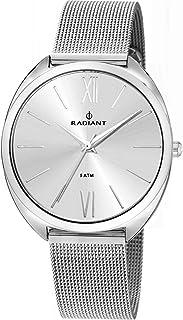 Reloj Radiant para Mujer con Correa Plateada y Pantalla en Blanco RA420601