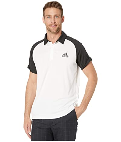 adidas Club Colorblock Polo (White/Black/Black) Men