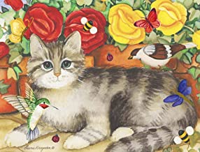 Resting Cat by Laurie Korsgaden Art Print, 21 x 16 inches