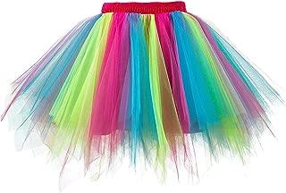 Musever 1950s Vintage Ballet Bubble Skirt Tulle Petticoat Puffy Tutu