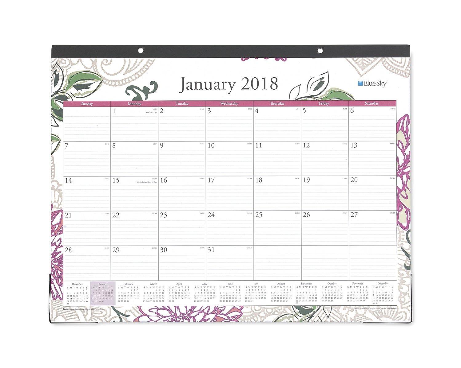 Blue Sky 2018 Monthly Desk Pad Calendar, 22