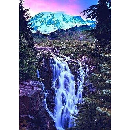 Colorful Waterfall Landscape DIY Diamond Painting Full drill Fashion Decor //852