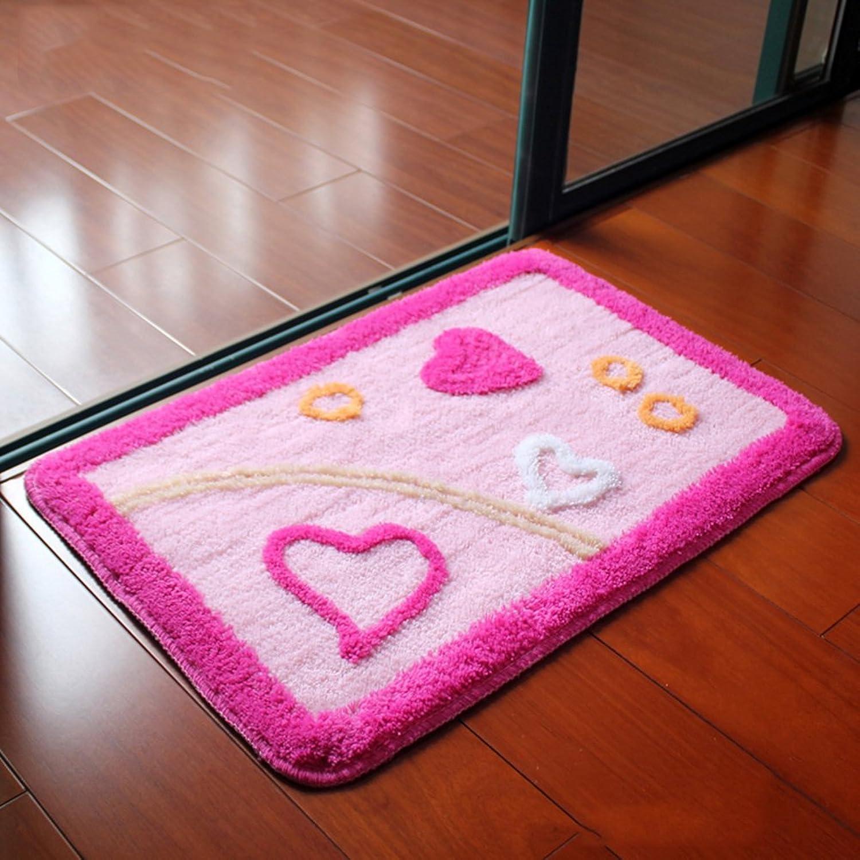 Aik@ Non-Slip Bathroom Doormat,Absorbent Mat Modern Polyester Carpet Entrance Rug Easy Clean-A 60x90cm(24x35inch)