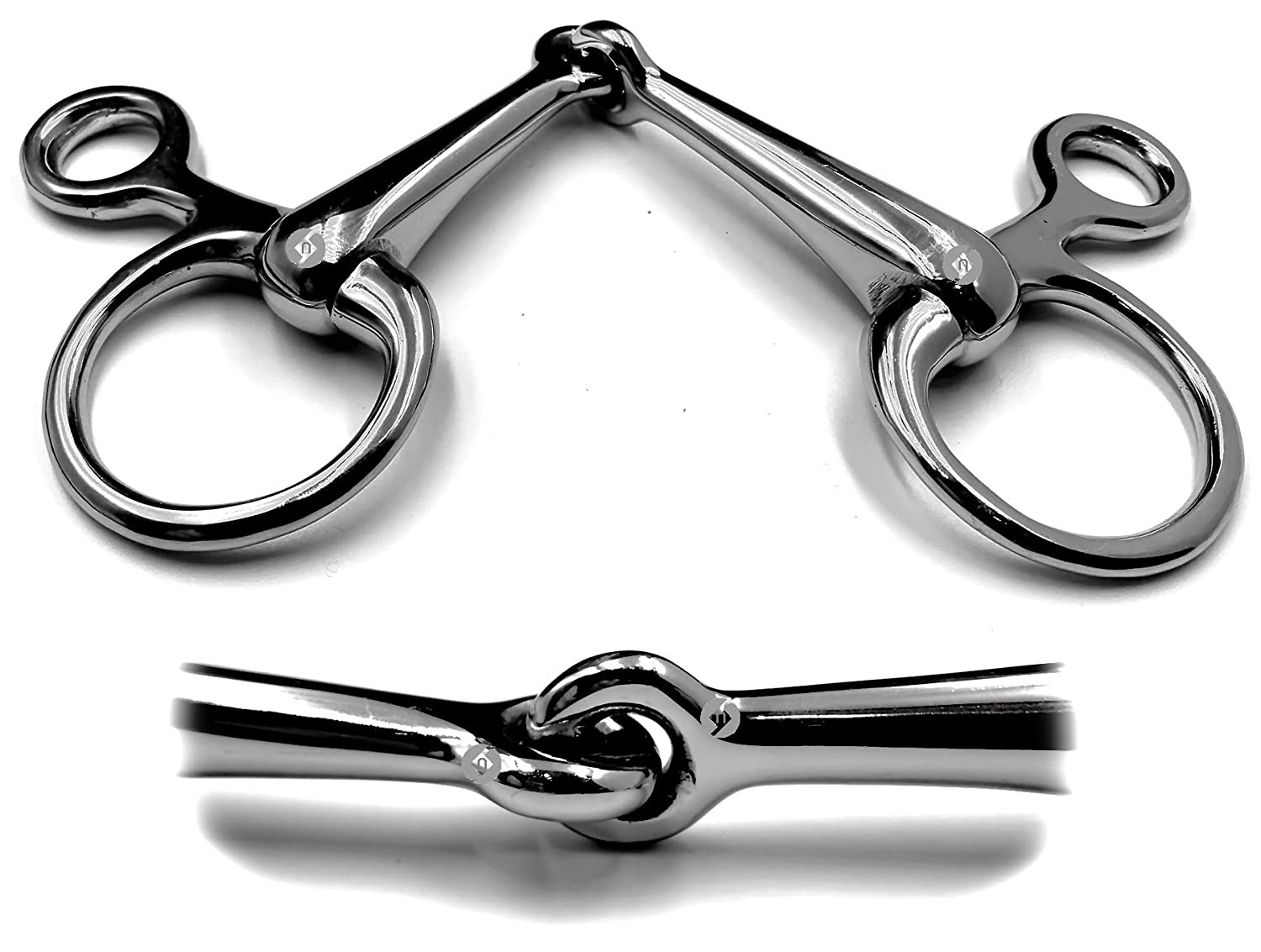 OTTE Baucher Hanging Cheek Snaffle Single Joint Stainless Steel Horse Bit All Sizes 4.5