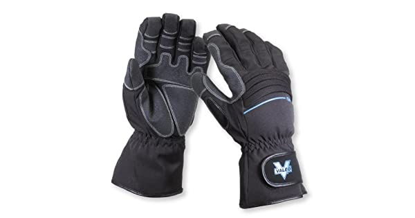 and Palm Thumb Hipora Waterproof Liner Medium Size and Griptech Patches On Finger Valeo Work Pro Waterproof Gauntlet Gloves with 3M Thinsulate Insulation