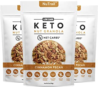 Best NuTrail™ - Keto Nut Granola Healthy Breakfast Cereal - Low Carb Snacks & Food - 2g Net Carbs - Almonds, Pecans, Coconut and more (11 oz) (1 Count) (3 Count) Review