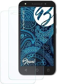 Bruni Skärmskydd är kompatibel med Alcatel A5 LED Film, kristallklart Skyddsfilm (2X)