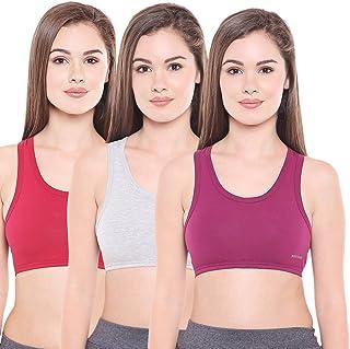 23eade1fbff30 BODYCARE Pack of 3 Sports Bra in Grey-Maroon-Wine Color - E1610GRYMHWI