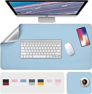 "Desk Pad, Desk Mat, Mouse Mat, XL Desk Pads Dual-Sided Blue/Sliver, 31.5"" x 15.7"" + 8""x11"" PU Leather Mouse Pad2 Pack Wat..."