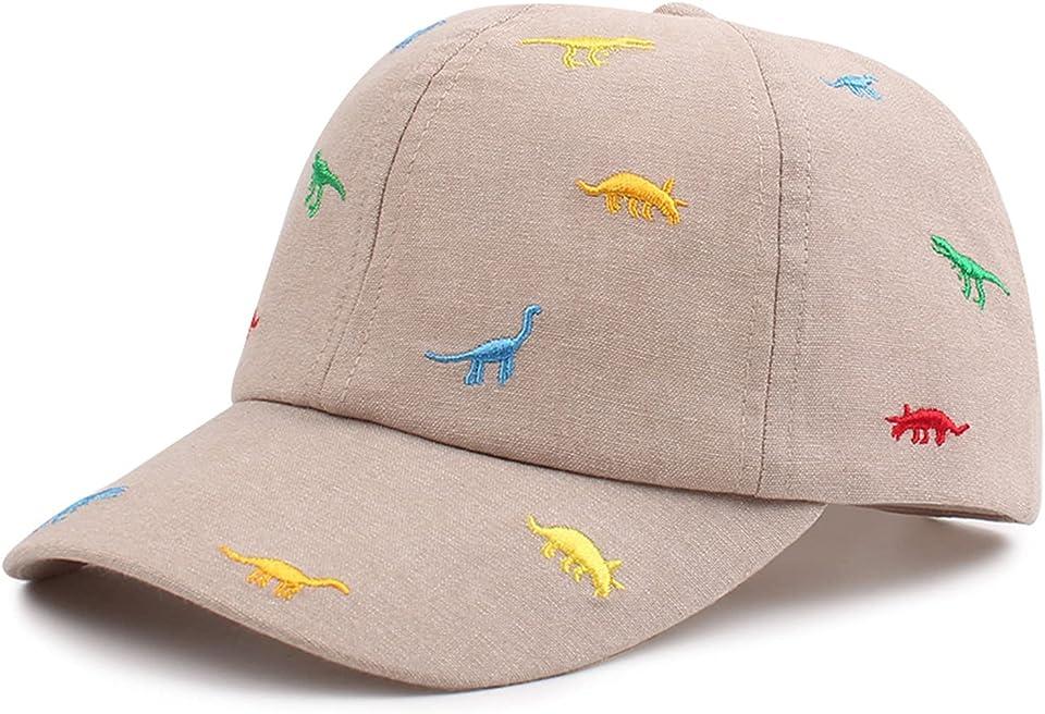 Dinosaurier Cap Kinder 2-5Jahren Schirmmütze UV Schutz Jungen Baseballkappe Sommer Kappe für Kinder Jungen Baseball Cap