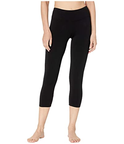 Hard Tail Flat Waist Capris (Black) Women