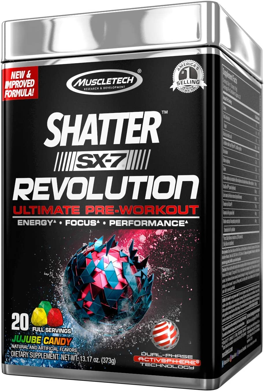 MuscleTech Shatter SX-7 All Ranking TOP14 items free shipping Revolution - Jujube Candy