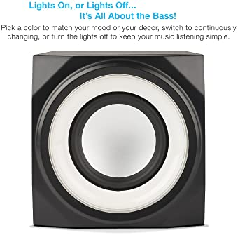 Cyber Acoustics Bluetooth Speakers with LED Lights – The Perfect Gaming, Movie, Party, Multimedia 2.1 Subwoofer Speak...