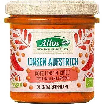 Allos Brotaufstrich mit roten Linsen & Chili (140 g) - Bio