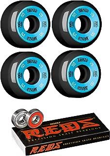 53mm Bones Wheels 100's #10 Wheels with Bones Bearings - 8mm Bones REDS Precision Skate Rated Bearings - Bundle of 2 items
