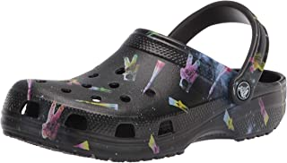 Crocs Kids' Classic Tie Dye Clog | Slip On Water Shoe for Toddlers Girl's Clog