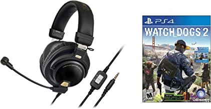 Audio-Technica ATH-PG1 Openback Gaming Headset w Watch Dogs 2 for Playstation 4