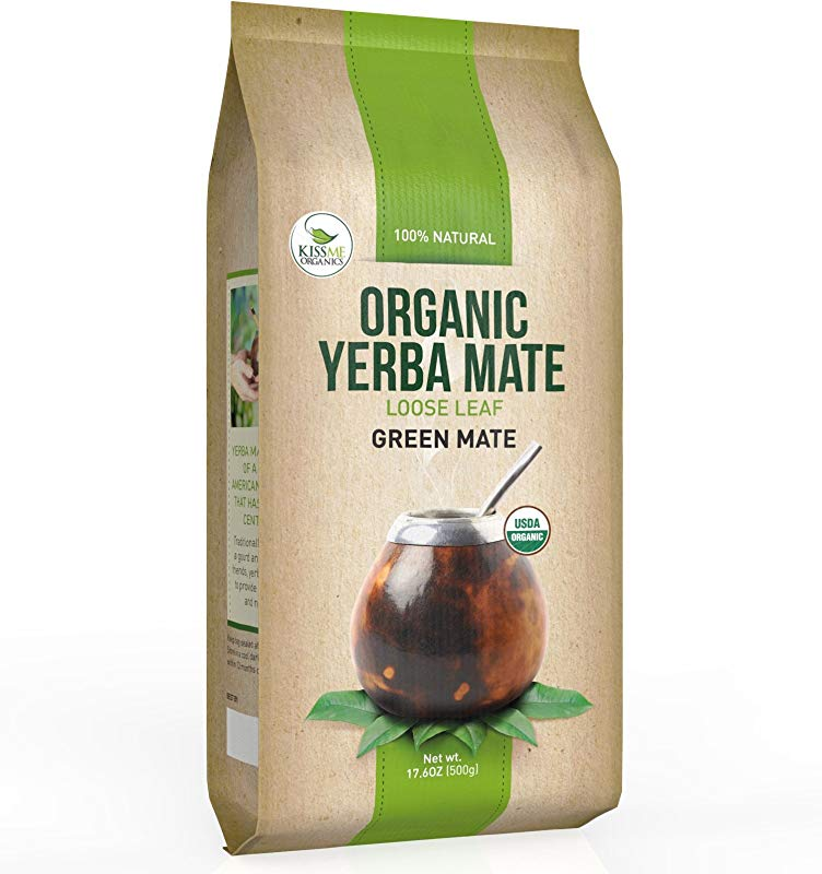 Organic Yerba Mate Loose Leaf Tea Traditional South American Green Tea Drink Provides Energy Boost And Aids Digestion Packed With Antioxidants
