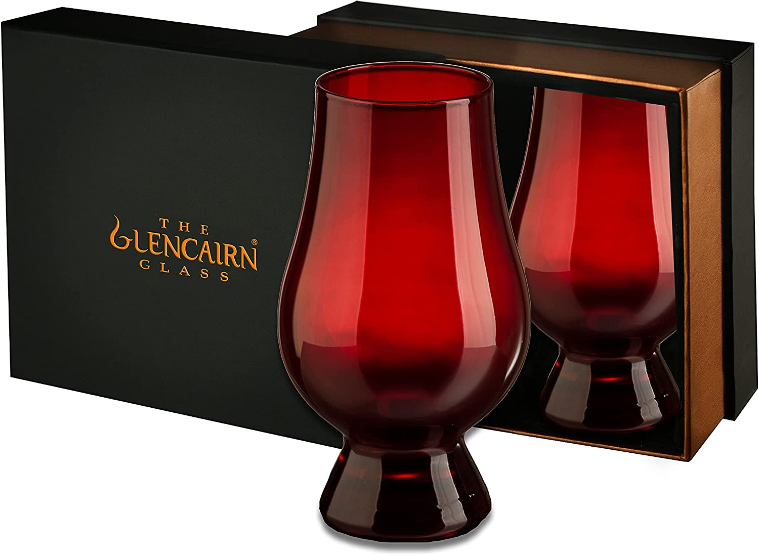 Red Glencairn Our shop most popular Directly managed store Whisky Glass Set Two in Presentation Box of