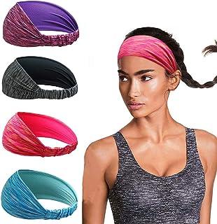 Linlook - Cinta para el Pelo Deportiva para Mujer, para Yoga, Correr, Entrenamiento, Fitness, Tenis, Gimnasio, Bicicleta, Senderismo, Voleibol, Danza, Viajes, elástica, Antideslizante, Ligera