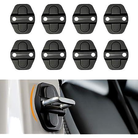 Black for Dodge Chrysler for Jeep Grand Cherokee Voodonala Door Lock Covers Protection Trim for Jeep Wrangler JK JKU 2007-2019 5PACK