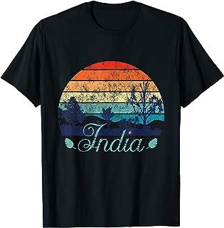 Rétro Design coloré en détresse Inde Travel Camper T-Shirt