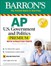 Download Book AP US Government and Politics Premium: With 5 Practice Tests (Barron's Test Prep) PDF