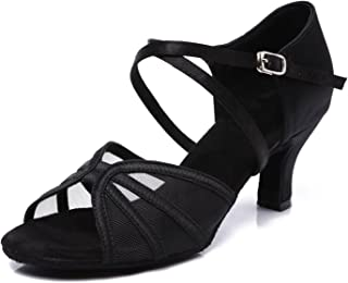 Women's Ballroom Dance Shoes Latin Salsa Practice Dancing Shoes 2.5