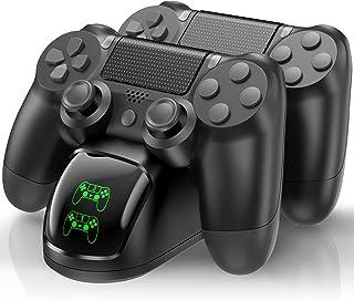 PS4 Controller stazione di ricarica per Playstation 4, PS4 Wireless Remote Charger Compatibile con Dualshock 4 Controller,...