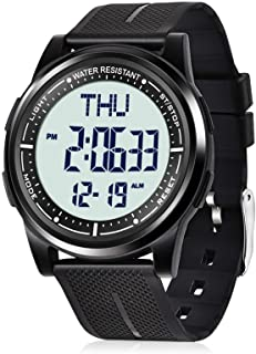 Digital Watch Waterproof with Stopwatch Alarm Countdown Dual Time, Ultra-Thin Super Wide-Angle...