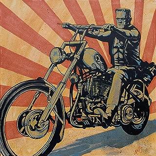 Eerie Rider by Mike Bell Frankenstein Biker Cool Monster Canvas Wall Art Print