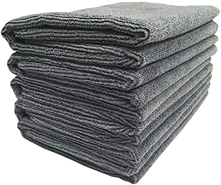 SOFTSPUN Microfiber Cleaning Cloth, Detailing & Polishing Cloth - 40X60 Cms - 5 Pcs (GREY)