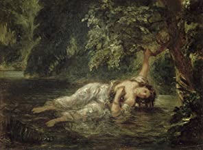 Death of Ophelia by Eugene Delacroix Art Print, 14 x 10 inches